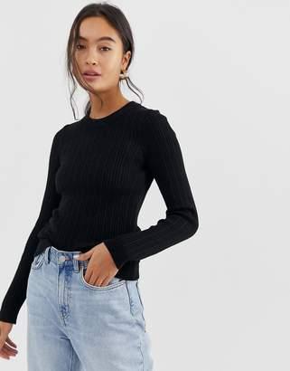 Asos Design DESIGN ribbed jumper in fine knit