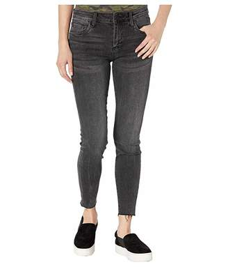 KUT from the Kloth Connie Ankle Skinny with Raw Hem in Amicable Wash