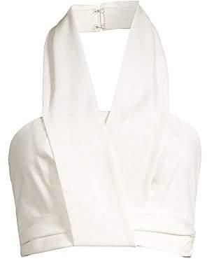 AMUR Women's Wrap Halter Bustier Top