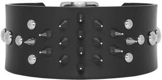 Junya Watanabe Black Leather Studded Choker