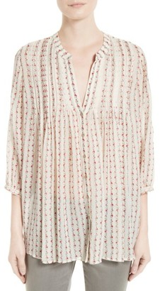 Women's Joie Martine Floral Silk Blouse $278 thestylecure.com
