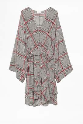 Zadig & Voltaire Dress Ruffle Print Ca