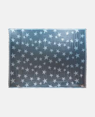 Stella McCartney blue metallic star print scarf