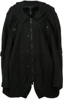 Vera Wang oversized military coat