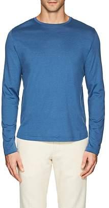 Loro Piana Men's Silk-Cotton Long-Sleeve T-Shirt