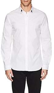 Just Cavalli MEN'S EMBROIDERED COTTON POPLIN SHIRT-WHITE SIZE 52 EU