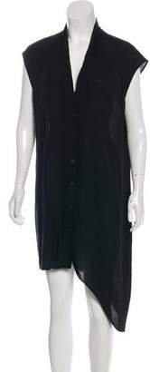Helmut Lang Asymmetrical Button-Up Dress