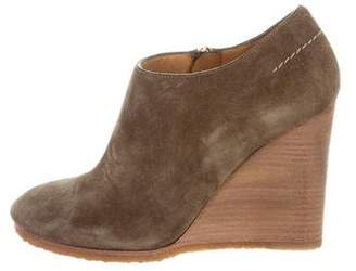 Chloé Suede Wedge Booties
