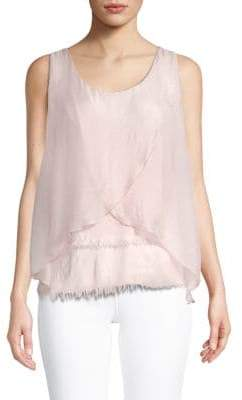 Le Marais Uneven Sleeveless Silk Top