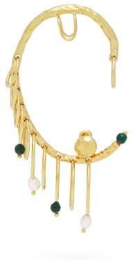 ATTICO X Alican Icoz 22kt Gold Plated Ear Cuff - Womens - Gold