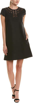 Susana Monaco Cutout Wool-Blend Shift Dress