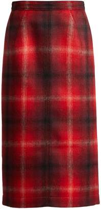 No.21 NO. 21 Tartan felted midi skirt