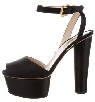 pradaPrada Multistrap Platform Sandals