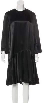 Ganni Long Sleeve Midi Drop Waist Dress