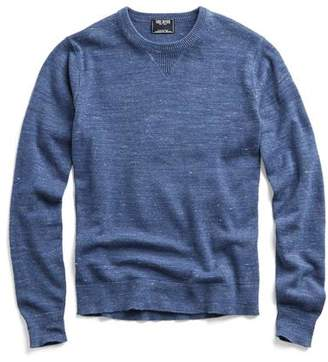 Todd Snyder Cotton Cashmere Spaced Dyed Sweater in Blue