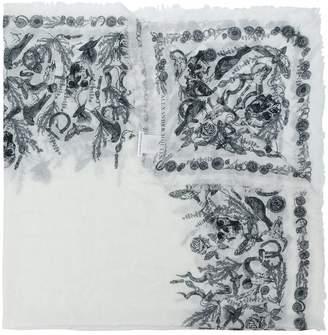 Alexander McQueen gothic motif scarf