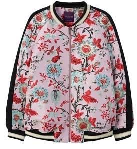Violeta BY MANGO Floral design bomber jacket