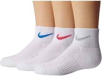 Nike Cotton Cushioned Quarter with Moisture Management 3-Pair Pack Women's Quarter Length Socks...