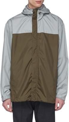 3.1 Phillip Lim Colourblock hooded windbreaker jacket