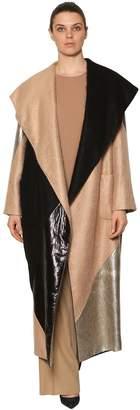 Marina Rinaldi Patchwork Metallic, Lurex & Mohair Coat