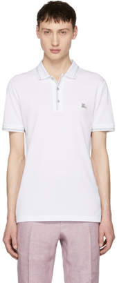 Burberry White Kenforth Polo
