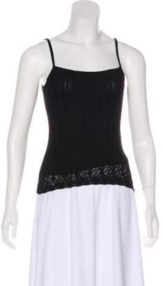 Ralph Lauren Black Label Open Knit Silk Top