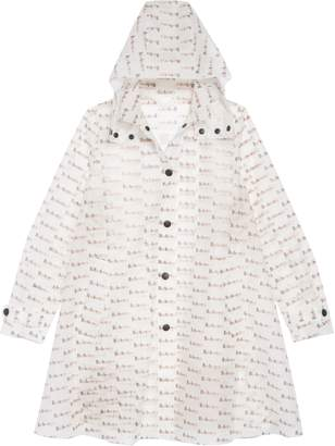 Burberry Penelope Logo Print Hooded Rain Coat