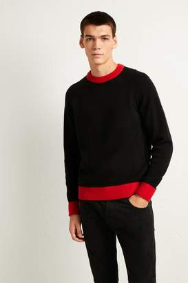 French Connenction Contrast Lambswool Jumper
