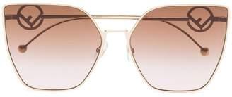 Fendi Eyewear Oversized square logo arm sunglasses