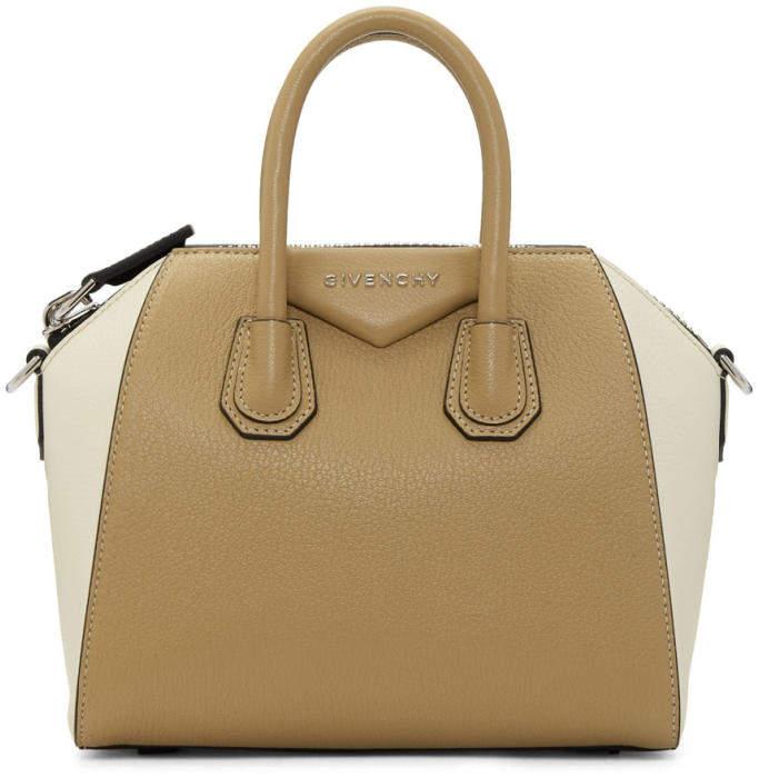 Givenchy Beige and Off-White Mini Antigona Bag
