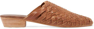 ST. AGNI - Paris Woven Leather Slippers - Brown