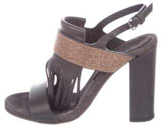 Brunello Cucinelli Monili Leather Sandals