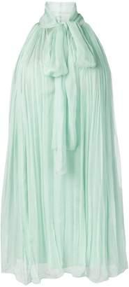 Alberta Ferretti pleated cocktail dress