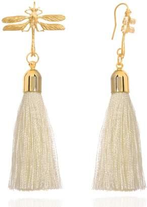 C.J.M - Dragonfly Earrings White