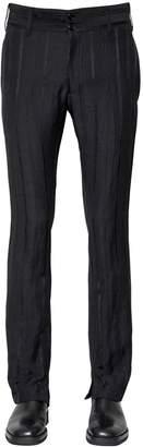 Ann Demeulemeester 21cm Striped Viscose Blend Crepe Pants