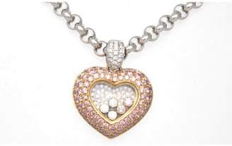 Chopard 5 Happy Diamond Heart 18K Gold Pendant Necklace