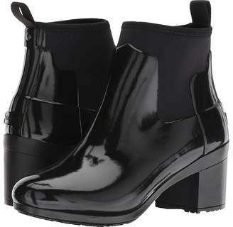 Hunter Refined Mid Heel Gloss Rain Boots Women's Rain Boots