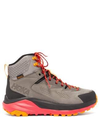 Hoka One One - Sky Kaha Suede Trail Boots - Mens - Grey Multi