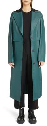 Loewe Jersey Panel Leather Trench Coat