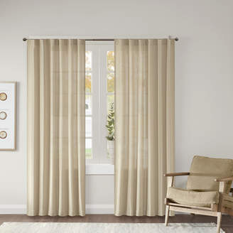 Beachcrest Home Ocheltree Solid Semi-Sheer Rod Pocket Curtain Panels