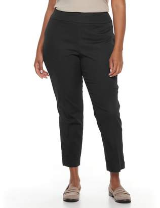 Croft & Barrow Plus Size Stretch Pull-On Ankle Pants