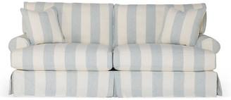 Comfy Slipcovered Sofa - Blue/White Stripe - Rachel Ashwell