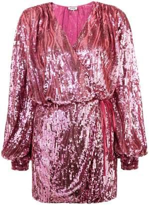 ATTICO sequin wrap dress