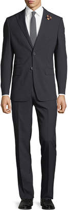 English Laundry Men's Pinstriped Two-Piece Suit, Navy