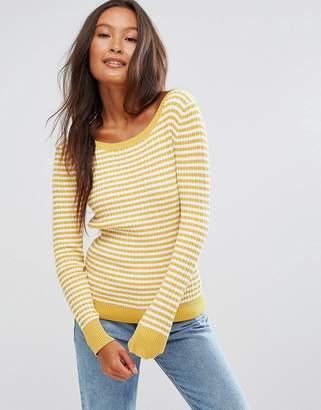 Shae Stripe Crew Neck Sweater