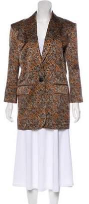 Magda Butrym Floral Print Silk Blazer