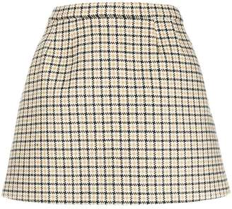 RED Valentino mini check skirt