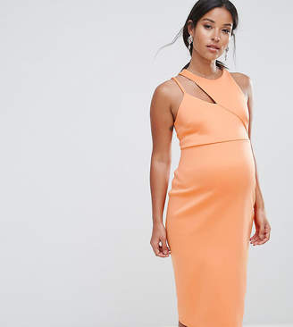 Asos Scuba Cut Out Asymmetric Dress