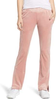 Pam & Gela Vented Hem Velour Track Pants