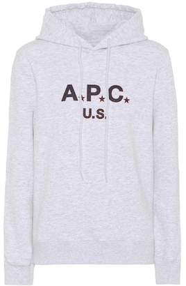 A.P.C. U.S. cotton fleece hoodie